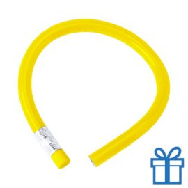 Flexibel potlood gum geel bedrukken