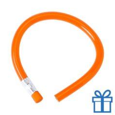 Flexibel potlood gum oranje bedrukken
