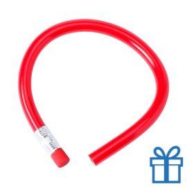 Flexibel potlood gum rood bedrukken