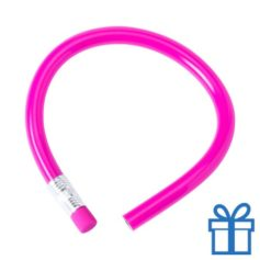 Flexibel potlood gum roze bedrukken