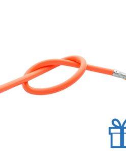 Flexibele potlood oranje bedrukken