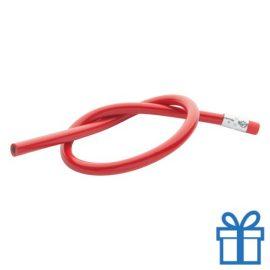 Flexibele potlood rood bedrukken