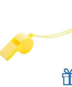 Fluitje geel bedrukken