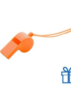 Fluitje oranje bedrukken