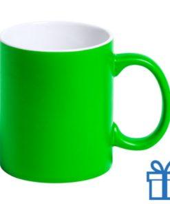 Gekleurde mok groen bedrukken
