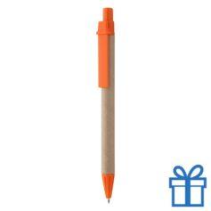 Gerecyclede pen oranje