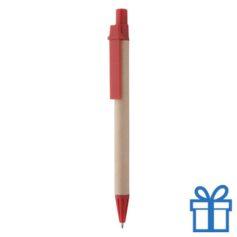 Gerecyclede pen rood