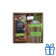 Geschenkset Granola groen bedrukken