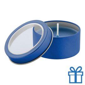 Geurkaars vanille blauw bedrukken