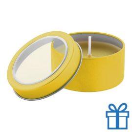 Geurkaars vanille geel bedrukken