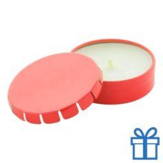 Geurkaars vanille geschenkdoosje rood bedrukken