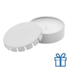 Geurkaars vanille geschenkdoosje wit bedrukken
