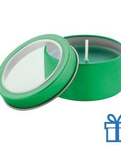 Geurkaars vanille groen bedrukken