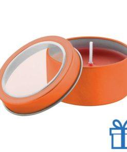Geurkaars vanille oranje bedrukken