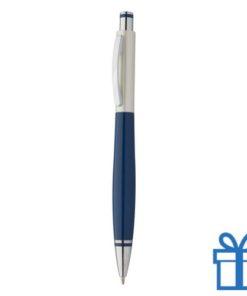 Goedkope budget balpen metalen clip blauw
