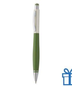 Goedkope budget balpen metalen clip groen