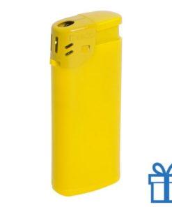 Goedkope plastic aansteker geel bedrukken