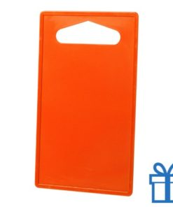 Goedkope plastic snijplank oranje bedrukken