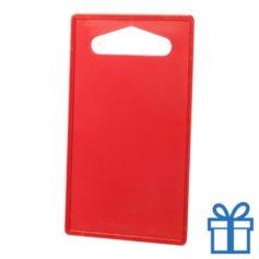 Goedkope plastic snijplank rood bedrukken