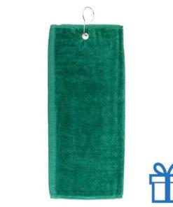 Golf handdoek groen bedrukken