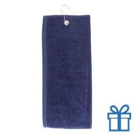 Golf handdoek navy bedrukken