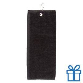 Golf handdoek zwart bedrukken