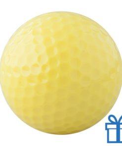Golfbal geel bedrukken