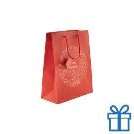 Grote geschenktas mat rood bedrukken
