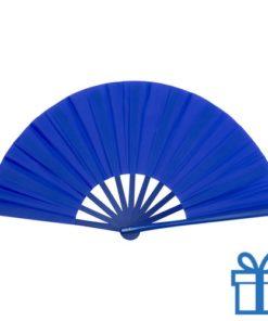 Grote waaier stof blauw bedrukken
