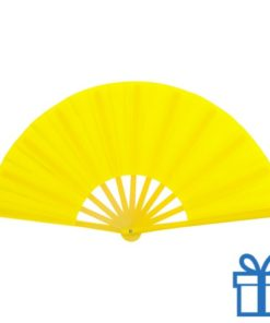 Grote waaier stof geel bedrukken