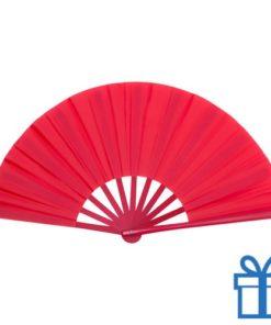 Grote waaier stof rood bedrukken