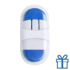 Gum plastic doosje blauw