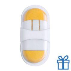 Gum plastic doosje geel
