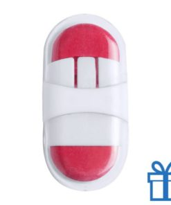 Gum plastic doosje rood