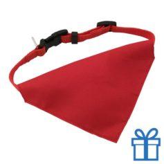 Halsband hond rood bedrukken