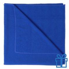 Handdoek groot blauw bedrukken