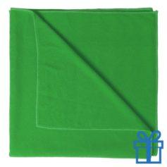 Handdoek groot groen bedrukken