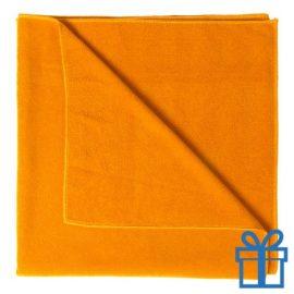Handdoek groot oranje bedrukken