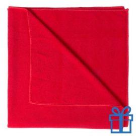 Handdoek groot rood bedrukken