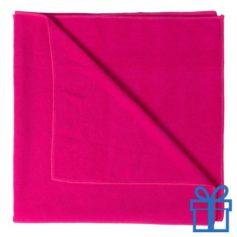 Handdoek groot roze bedrukken