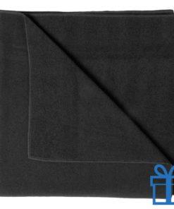 Handdoek groot zwart bedrukken