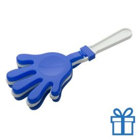 Handje klapper blauw bedrukken