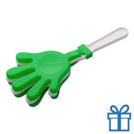 Handje klapper groen bedrukken