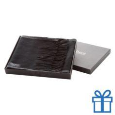 Heren sjaal in doosje zwart bedrukken