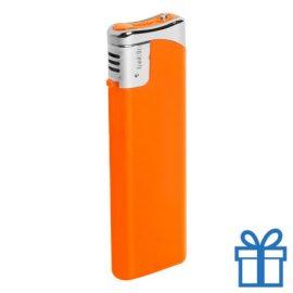 Hervulbare aansteker oranje bedrukken