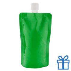 Hervulbare drinkzak groen bedrukken