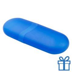Hippe brillenkoker ovaal blauw bedrukken