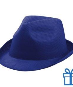 Hoedje unisex blauw bedrukken