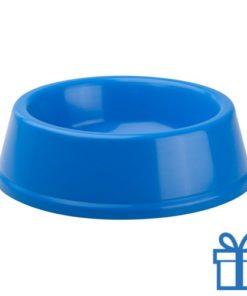Honden voerbak blauw bedrukken