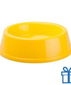 Honden voerbak geel bedrukken